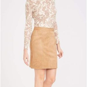 J McLaughlin faux suede skirt